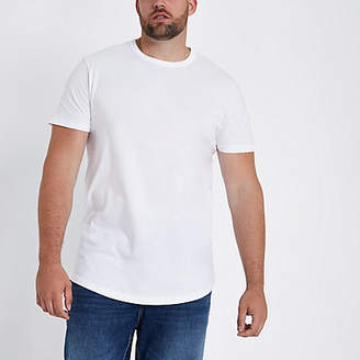 River Island Big and Tall white slim fit T-shirt