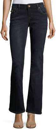 Kut from the Kloth Natalie Flap-Pocket Flare Jeans, Blue $59 thestylecure.com