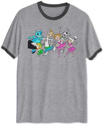 Hybrid Hanna-Barbera Dancing Jetsons Men Ringer Graphic T-Shirt