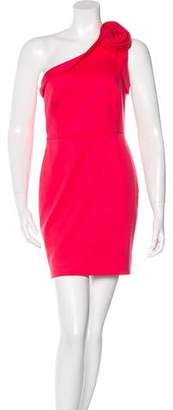 Valentino One-Shoulder Rosette Dress