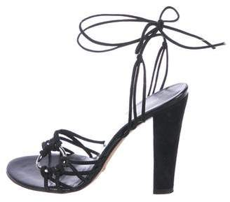 Dolce & Gabbana Suede Lace-Up Sandals