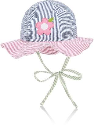 Florence Eiseman Infants' Flower-Appliquéd Seersucker Sun Hat
