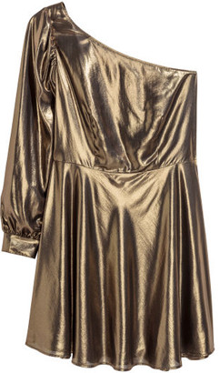 H&M H&M+ Shimmery Dress - Gold