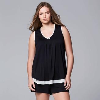 Vera Wang Plus Size Simply Vera Pajamas: Basic Luxury Pajama Set