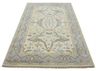 """Charlton Home One-of-a-Kind Schurman Indian Hand-Knotted 5'2"""" x 8'3"""" Wool Cream Area Rug Charlton Home"""