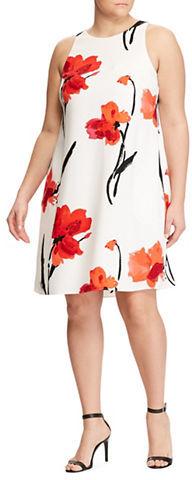 Lauren Ralph LaurenLauren Ralph Lauren Plus Crepe A-Line Dress