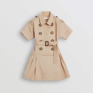 Burberry Stretch Cotton Trench Dress