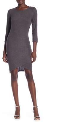 Vanity Room Heathered Hacci Knit Sheath Dress