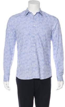 Kenzo Patterned Button-Up Dress Shirt