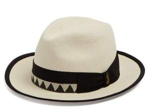 Borsalino Zigzag Band Panama Hat - Mens - Cream Multi