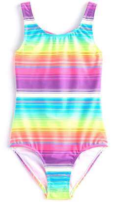 So Girls 4-16 SO Rainbow Knotted Back One-Piece Swimsuit