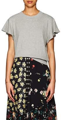 A.L.C. Women's Ruffle Cotton Terry Sweatshirt