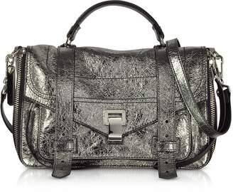 Proenza Schouler PS1+ Metallic Leather Medium Zip Satchel Bag