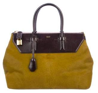 Tom Ford Leather-Trimmed Ponyhair Tote