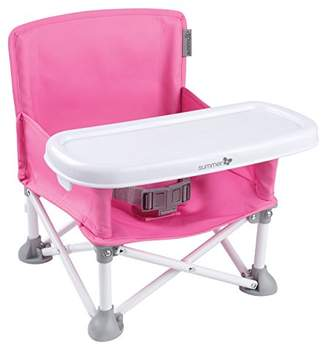 Summer Infant Pop N Sit Folding Booster, Pink