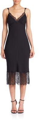 Diane von Furstenberg Margarit Silk Slip Dress $298 thestylecure.com