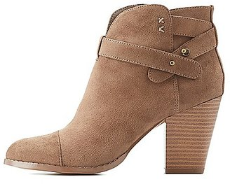 Wrapped Chunky Heel Booties $35.99 thestylecure.com