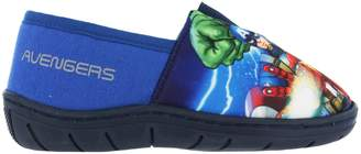 Marvel Boys Slippers Navy Iron Man Hulk Captain America Size 10