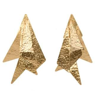 Josie Natori Goldplated Brass Geometric Earrings