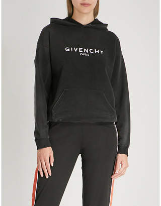 Givenchy Distressed cotton-jersey hoody