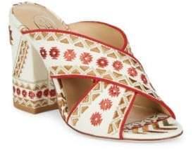 Ash Adel Textile Block Heel Sandals