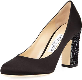 Jimmy Choo Billie Glitter-Heel Pumps