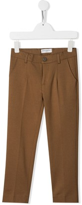 Paolo Pecora Kids creased straight leg trousers