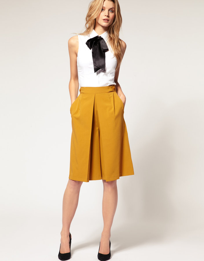 ASOS Box Pleat Full Culotte