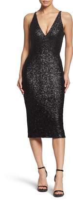 Dress the Population Camilla Plunging Sequin Sheath Dress