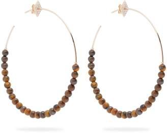 Diane Kordas Diamond & 18kt rose-gold hoop earrings