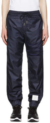 Thom Browne Navy Ripstop Four Bar Lounge Pants