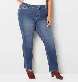 Avenue 1432 Straight Leg Jean in Medium Wash