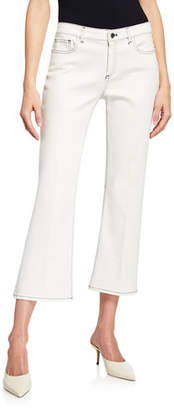 Elie Tahari Gianina Cropped Flare Jeans