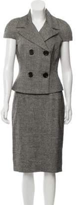 Michael Kors Silk-Blend Tweed Skirt Suit Black Silk-Blend Tweed Skirt Suit