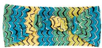 Missoni Mare - Fish Scale Knitted Headband - Womens - Yellow Multi