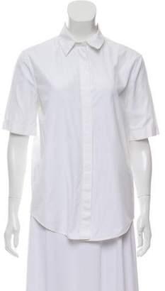 Balenciaga Short Sleeve Pointed Collar Button-Up