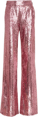 Prabal Gurung Wide Leg Sequin Trouser