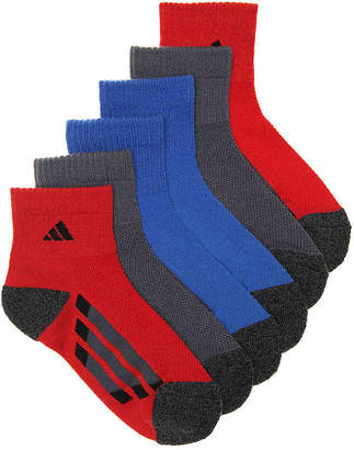 adidas Cushioned Climalite Youth Ankle Socks - 6 Pack - Boy's