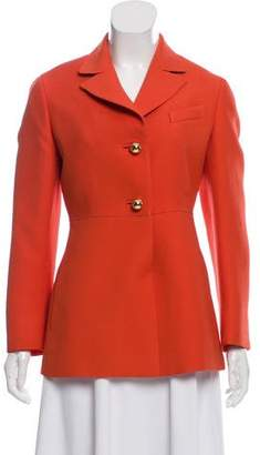 Prada Notch-Lapel Wool Casual Jacket