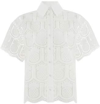 Zimmermann Wayfarer Embroidered Shirt