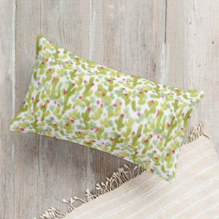 Prickly Pear Cacti Lumbar Pillow