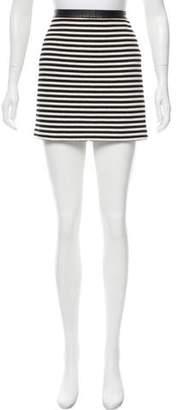 Alexander Wang Strip Knit Mini Skirt w/ Tags