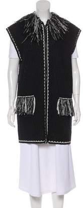 Chanel Fringe-Trimmed Knit Vest
