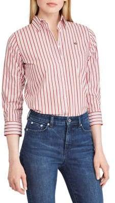 Lauren Ralph Lauren Striped Spread Collar Shirt