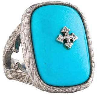 Loree Rodkin 18K Diamond & Composite Turquoise Ring
