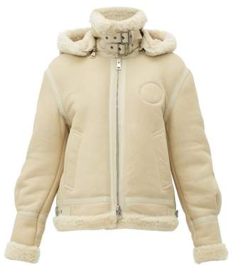 Chloé Shearling And Leather Aviator Jacket - Womens - Beige Multi