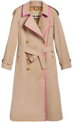 Burberry Tape Detail Cotton Gabardine Trench Coat
