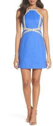 Lilly Pulitzer R) Pearl Halter Neck Cotton Dress