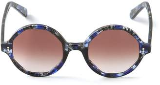 Cutler & Gross 'Crystalline' patterned circle sunglasses