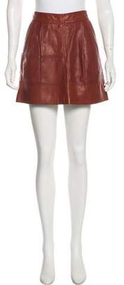 Brunello Cucinelli Leather Mini Skirt